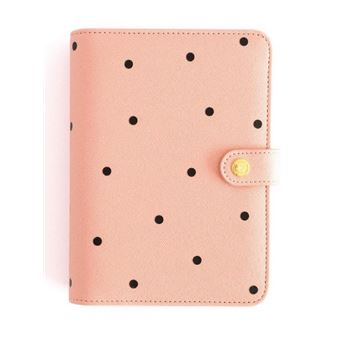 Planner personal Charuca A6 Rosa Topos