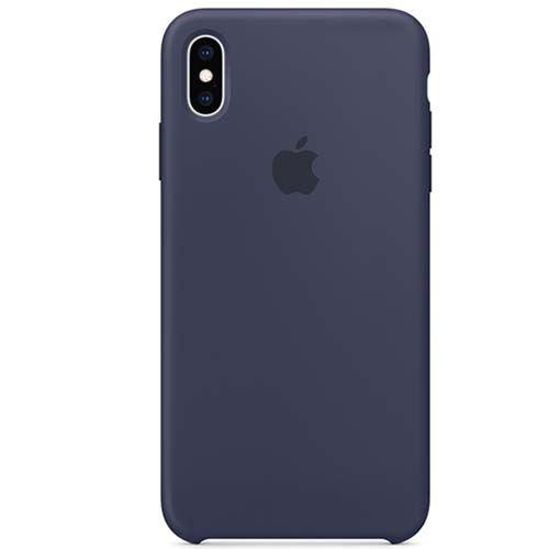 Funda Apple Silicone Case Azul Noche para iPhone Xs Max
