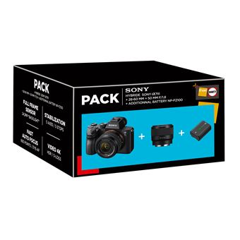 Cámara EVIL Sony Alpha 7 Mark III + 28-60 mm + 50 mm Pack
