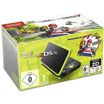 New Nintendo 2DS XL Negro - Verde + Mario Kart 7