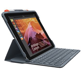 Funda con teclado Logitech Slim Folio Negro para iPad 10,2''