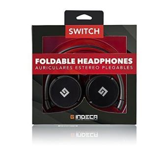 Indeca  Auriculares Plegables Gaming Nintendo Switch