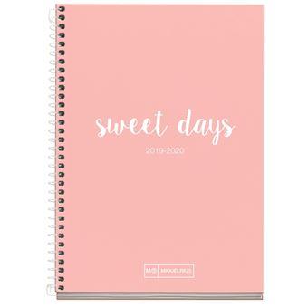 Agenda Miquelrius 2019/20 Día por página + 2SV Lettering Rosa
