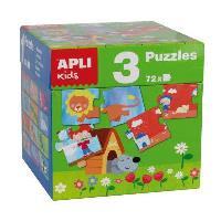 Puzzle: Cubo casa, estaciones y animales