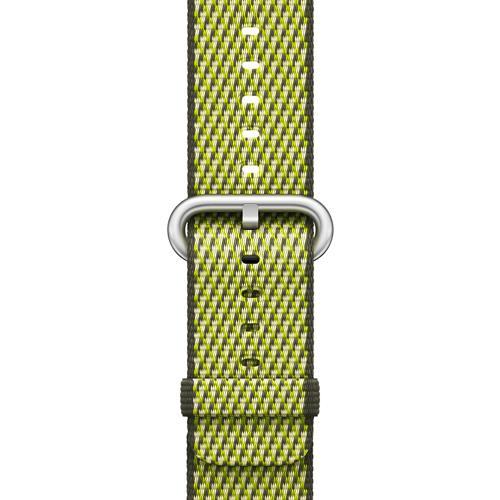 Correa Apple Watch Band Nailon trenzado cuadros Oliva oscuro (38 mm)