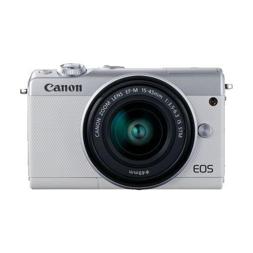 Cámara EVIL Canon EOS M100 Blanco + EF-M 15-45 mm f3.5-6.3 IS STM Plata
