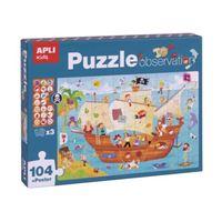Apli Kids - Puzzle barco pirata 104 piezas