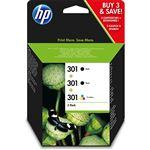 Cartucho de tinta HP 301 Negro-Tri-Color Pack