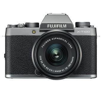 Cámara EVIL Fujifilm X-T100 Plata + 15-45 mm