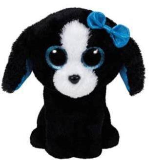 Peluche Beanie Boos Perro negro lazo (15cm)