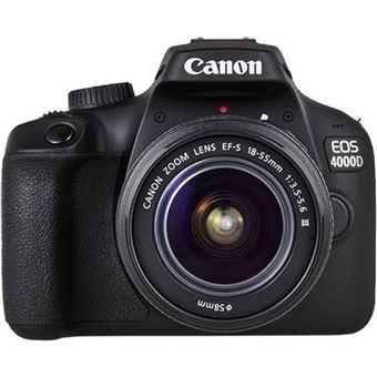 Cámara Réflex Canon EOS 4000D + EF-S 18-55mm f/3.5-5.6 DC III