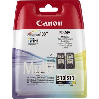 Kit Cartuchos de tinta Canon 510/511 Negro + Tricolor