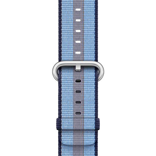 Correa Apple Watch Band Nailon trenzado de rayas Azul noche (38 mm)