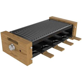 Raclette Cecotec Cheese&Grill 8200 Wood Black