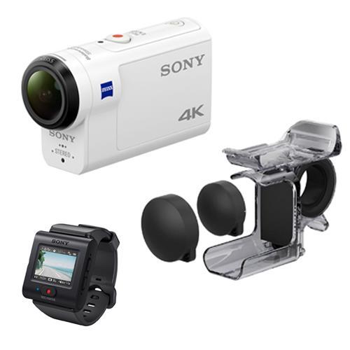 Videocámara Sport Sony FDR-X3000 4K UHD Kit control remoto + agarre de dedo (AKA-FGP1)