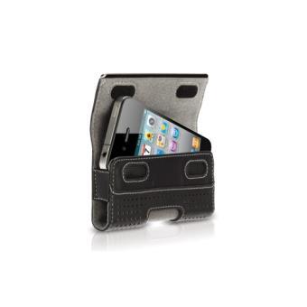 Griffin Elan Holster Metal Funda en piel negra para iPhone 4