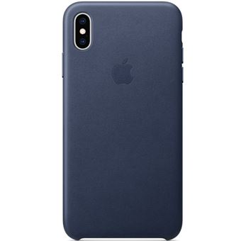 Funda Leather Case Azul Noche para iPhone Xs Max