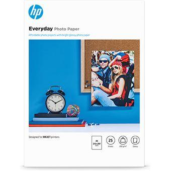 HP Papel de Foto A4 25 hojas