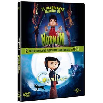 Pack El alucinante mundo de Norman + Los mundos de Coraline - DVD