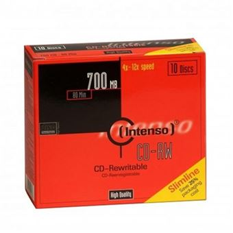 Pack Intenso 10 CD-RW 700MB 52x