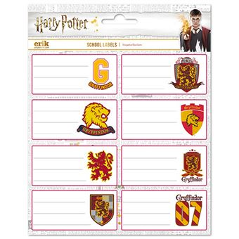 Etiquetas escolares Harry Potter Gryffindor
