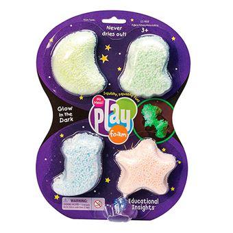 Pack Playfoam Brilla en la oscuridad 4 colores