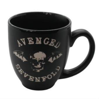 Taza Avenged Sevenfold Deathbat en relieve Negro
