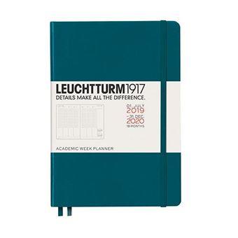 Planificador 2019-2020 Leuchtturm 1917 A5 s/v verde pacific