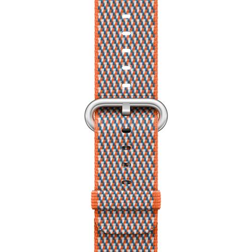 Correa Apple Watch Nailon trenzado Naranja/Cúrcuma (42 mm)
