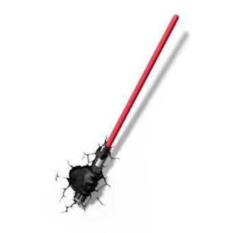 Lámpara decorativa pared 3D Star Wars sable Darth Vader