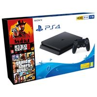 Consola PS4 Slim 1TB + Red Dead Redemption 2 + GTA V