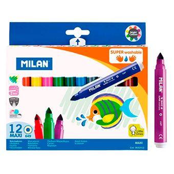 Set de 12 rotuladores Milan punta cónica superlavables