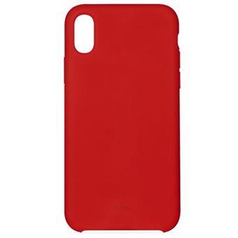Funda Puro Icon Silicona para iPhone Xs Max Rojo