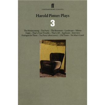 Harold Pinter Plays 3