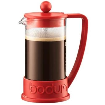 Bodum Brazil Cafetera Embolo 0,35L Color Rojo