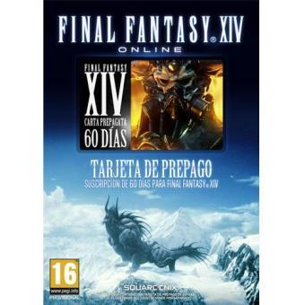 Final Fantasy XIV Tarjeta Prepago 60 días