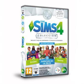 Los Sims 4 Colección Aventuras en la Selva + Accesorios Infantes y Fitness PC