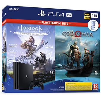 PS4 Pro 1TB+ God of War+ Horizon Zero Dawn