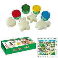Pintura de Dedos Alpino Baby 4 botes + 4 esponjas