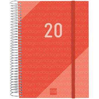 Agenda 2020 1 d/ía p/ágina Espiral Design Collection Cactus espa/ñol Finocam