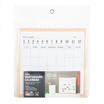 Pizarra magnética con calendario planificador Kikkerland pequeña
