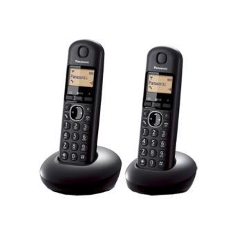 Teléfono inalámbrico Panasonic KX-TGB212SP duo negro Dect