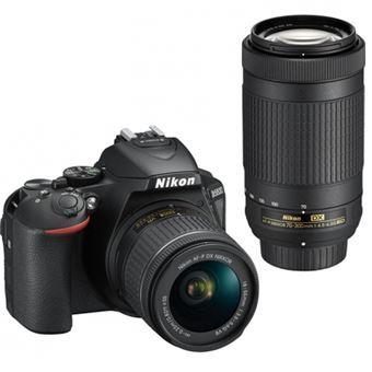 Cámara Réflex Nikon D5600 + Af-p Dx 18-55mm Vr + Af-p Dx Nikkor 70-300mm