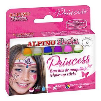 Barritas de maquillaje Alpino Fiesta Princess 6 colores