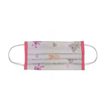 Mascarilla Infantil Indigofabrics ositos rosas