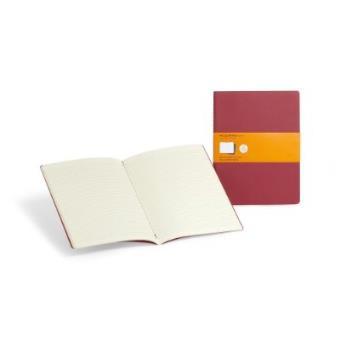 Cuaderno Moleskine de viaje Cahier XL Pautado Rojo Arándano