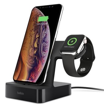Base de carga Belkin PowerHouse para Apple Watch/iPhone Negro