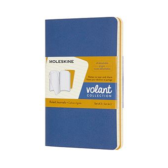 Libreta Moleskine Volant Journals Pocket rayada azul ámbar/amarillo