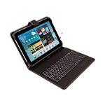 Funda con soporte Silver HT + teclado universal para tablet 9-10,1''