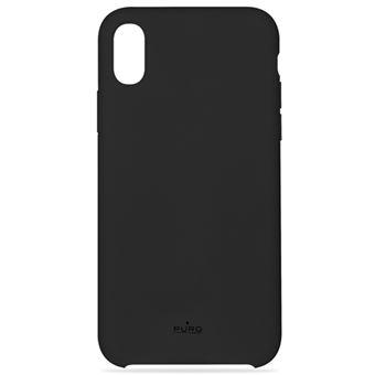 Funda Puro Icon Silicona para iPhone XR Negro